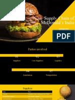 Supply Chain of McD India