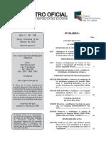 REGISTRO OFICIAL 146 - Acuerdo Ministerial 195 OFICIAL