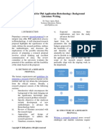 Research Proposal for PhD Application Biotechnology Background Literature Writing - Pubrica