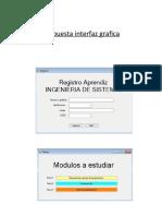 Propuesta interfaz grafica