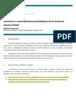 Delimitaciones de la violencia sexual infantil