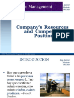 Strategic Management - Company's Resources and Competitive Position