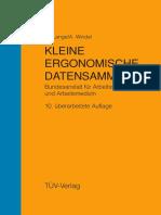KLEINE ERGONOMISCHE DATENSAMMLUNG Bundesanstalt für Arbeitsschutz und Arbeitsmedizin