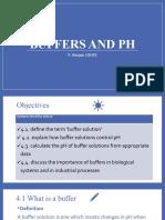 Buffers and pH
