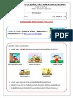Ativ 03 Educação Física - Educação Infantil