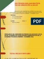 PICOT, población y muestra. criterios de selección EXPO