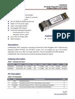 Datasheet gbic LX4502CWL