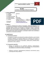 SILABO DEL CURSO  FILOSOFÍA DE LA CIENCIA, TECNOLOGÍA Y EDUCACIÓN - POSGRADO