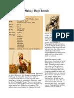 shivaji maharaj family history in marathi