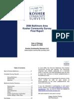 2006 Baltimore Kosher Community Survey - Final Survey Report