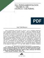 Hacia una fundamentacion teorica de la politica cultural
