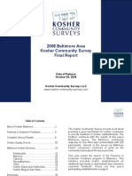 2008 Baltimore Kosher Community Survey - Final Survey Report