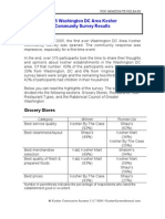 2005 Washington DC Area Kosher Community Survey - Final Report