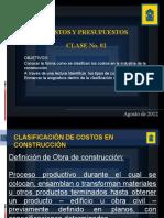 CLASE No. 02 COSTOS Y PRESUPUESTOS