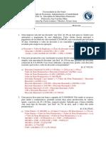 LISTA DE EXERCÍCIOS Nº3a - Gabarito V2