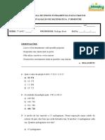 Avaliação Matemativa- Forms