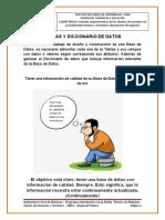 Material de Apoyo 4 _ Tablas y Diccionario de datos BD
