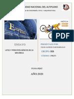 PRINCIPIOS Y LEYES DE LA MECÀNICA