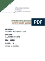 INFORME 3 lab. Qmc Inorgánica CHAMBI CHOQUE MARY KELY