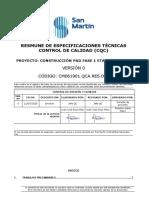 CM0611901.QCA.RES.001 Resumen de Especificaciones Técnicas