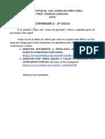 ARTE - Prof. Robson - 7º, 8º, 9º e 1º ano - Atividade 4 - Segundo Ciclo -Percussão com copos.pdf
