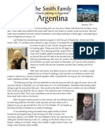 Smith Family to Argentina January Prayer Letter 2011