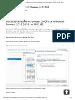 Installation du Role Serveur DHCP sur Windows Serveur 2019 2016 ou 2012 R2 _ PC2S - Bubu