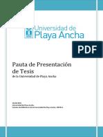 Nueva Pauta de Presentación de  Tesis UPLA 2015 - Versión definitiva