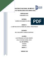 3.2 MÉTODO DE FACTORES DE CARGA Y RESISTENCIA