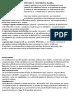 TRATAMIENTO DE TRASTORNO ALIMENTICIO