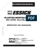 Essick Mortar Mixers