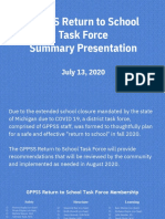 GPPSS Return to Work Task Force Final Presentation