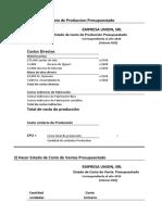 PRACTICA TERMINACION PLAN DE UTILIDADESS PRESUPUESTO E. II