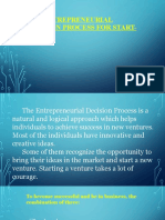 The Entrepreneurial Decision Process for Start-Ups