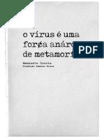 Coccia, O vírus é uma força anárquica de metamorfose (entrevista)