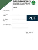 Formulir Pendaftaran Lomba