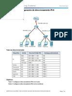 Configuración de direccionamiento IPv6