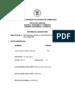 INFORME DE LABORATORIO (CONSTANTE DEL CALORÍMETRO)
