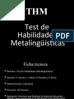 TEST DE HABILIDADES METALINGUISTICAS