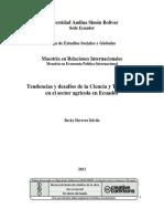 Tendencias y desafíos de la Ciencia y Tecnología en el sector agricola en el ecuador