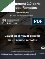 Management 3.0 para Equipos Remotos
