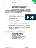 DND-OPA - Info - Requirements Applying for AFP Reserve - Issued 14 Jan 2011
