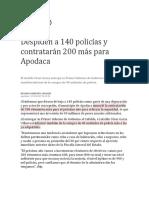 MILENIO - 2019 - Despiden a 140 policías y contratarán 200 más para Apodaca