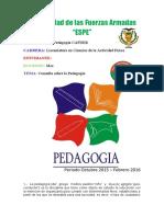 Consulta sobre pedagogia