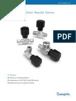 Needle Valves D Series (MS-01-42) Rev 3