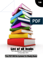 List of all books