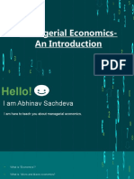 Managerial Economics-An Introduction(Abhinav Sachdeva)