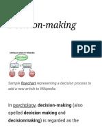 Decision-making - Wikipedia