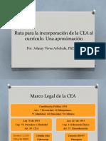 Ruta del CEA al currículo