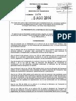 Decreto 1478 de 2014 (Lineamientos_Corredores_Logísticos)